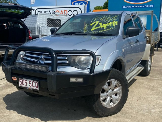 Used Mitsubishi Triton MN MY13 GLX Double Cab Rocklea, 2013 Mitsubishi Triton MN MY13 GLX Double Cab Silver 4 Speed Sports Automatic Utility