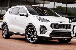 2020 Kia Sportage QL MY21 GT-Line AWD White 6 Speed Sports Automatic Wagon.
