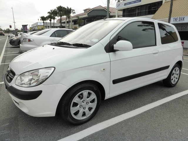 Used Hyundai Getz TB MY09 S Southport, 2008 Hyundai Getz TB MY09 S White 5 Speed Manual Hatchback
