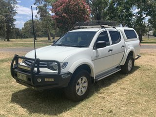 2012 Mitsubishi Triton MN MY12 GLX White 5 Speed Manual Utility.