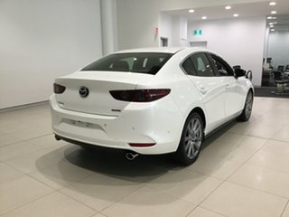 2019 Mazda 3 BP2SLA G25 SKYACTIV-Drive GT Snowflake White 6 Speed Sports Automatic Sedan.