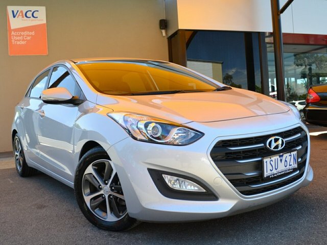Used Hyundai i30 GD3 Series II MY16 Active X Fawkner, 2015 Hyundai i30 GD3 Series II MY16 Active X Silver 6 Speed Sports Automatic Hatchback