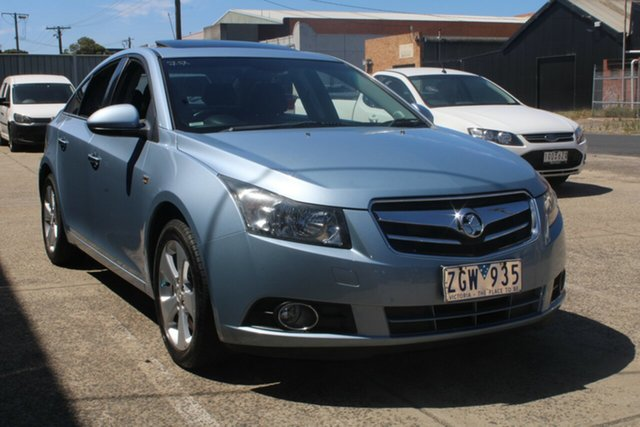Used Holden Cruze JG CDX West Footscray, 2010 Holden Cruze JG CDX Sky Blue 6 Speed Automatic Sedan