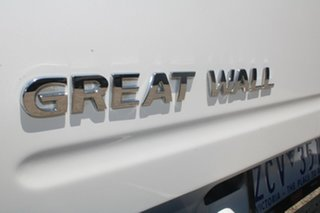 2012 Great Wall V200 K2 (4x4) White 6 Speed Manual Dual Cab Utility