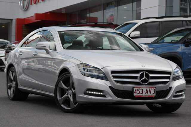 Pre-Owned Mercedes-Benz CLS-Class C218 CLS350 BlueEFFICIENCY Coupe 7G-Tronic Woolloongabba, 2012 Mercedes-Benz CLS-Class C218 CLS350 BlueEFFICIENCY Coupe 7G-Tronic Iridium Silver 7 Speed