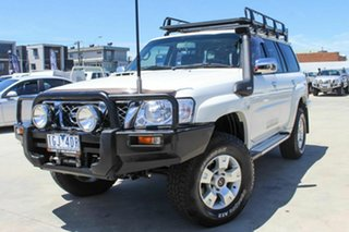 2013 Nissan Patrol Y61 GU 9 ST White 5 Speed Manual Wagon.