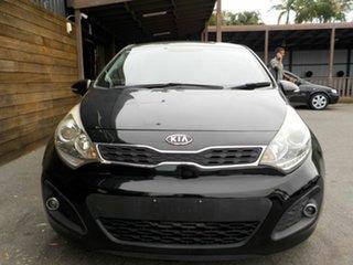 2012 Kia Rio UB MY13 SLS Black 6 Speed Manual Hatchback.