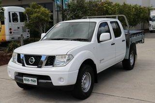 2014 Nissan Navara D40 S7 MY12 RX Polar White 6 speed Manual Cab Chassis.