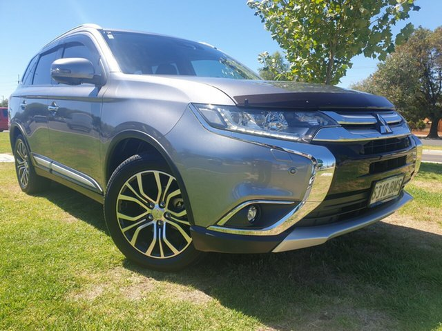 Used Mitsubishi Outlander ZK MY16 Exceed 4WD Hindmarsh, 2016 Mitsubishi Outlander ZK MY16 Exceed 4WD Grey 6 Speed Constant Variable Wagon