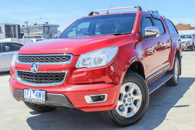 Used Holden Colorado RG MY13 LTZ Crew Cab Coburg North, 2013 Holden Colorado RG MY13 LTZ Crew Cab Red 6 Speed Sports Automatic Utility