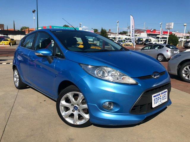Used Ford Fiesta WT Zetec Victoria Park, 2011 Ford Fiesta WT Zetec Blue 6 Speed Automatic Hatchback