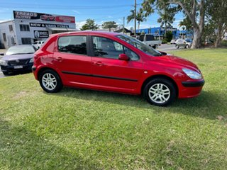 2003 Peugeot 307 T5 MY03 XS Red 4 Speed Sports Automatic Hatchback