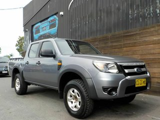 2009 Ford Ranger PK XL Crew Cab 4x2 Hi-Rider Grey 5 Speed Manual Utility.