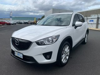 2013 Mazda CX-5 KE1021 Grand Touring SKYACTIV-Drive AWD White 6 Speed Sports Automatic Wagon