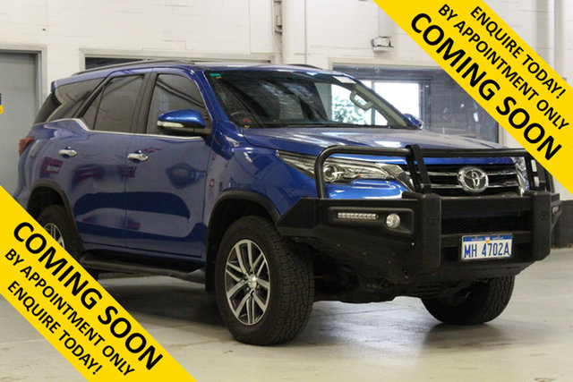 Used Toyota Fortuner GUN156R Crusade Bentley, 2016 Toyota Fortuner GUN156R Crusade Blue 6 Speed Automatic Wagon