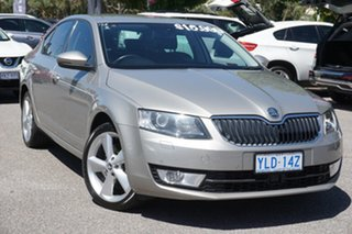 2014 Skoda Octavia NE MY14 Elegance Sedan DSG 132TSI Beige 7 Speed Sports Automatic Dual Clutch.