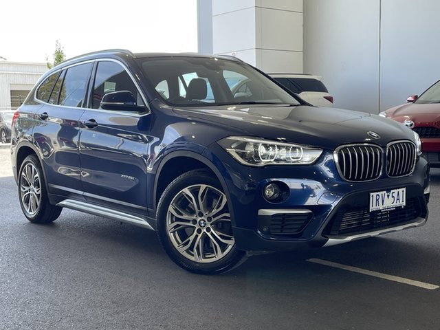 Pre-Owned BMW X1 F48 xDrive25i Steptronic AWD South Morang, 2017 BMW X1 F48 xDrive25i Steptronic AWD Blue 8 Speed Sports Automatic Wagon