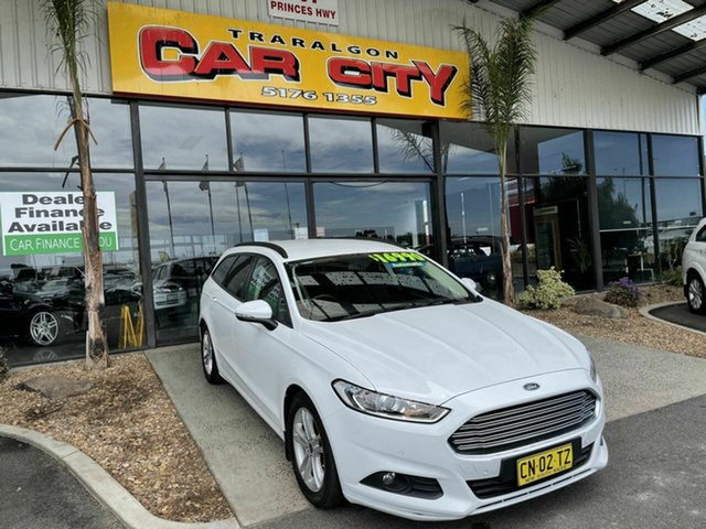 Used Ford Mondeo MD Ambiente TDCi Traralgon, 2016 Ford Mondeo MD Ambiente TDCi White 6 Speed Automatic Wagon