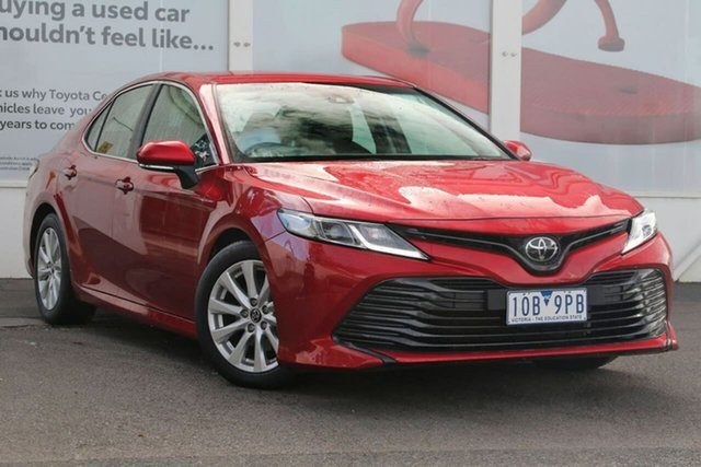 Pre-Owned Toyota Camry ASV70R Ascent Ferntree Gully, 2018 Toyota Camry ASV70R Ascent Emotional Red 6 Speed Sports Automatic Sedan