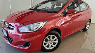 2012 Hyundai Accent RB Elite Red 4 Speed Sports Automatic Hatchback.