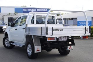 2013 Mitsubishi Triton MN MY13 GLX Double Cab White Solid 5 Speed Manual Utility.