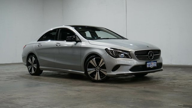 Used Mercedes-Benz CLA-Class C117 808MY CLA200 DCT Welshpool, 2017 Mercedes-Benz CLA-Class C117 808MY CLA200 DCT Silver 7 Speed Sports Automatic Dual Clutch Coupe