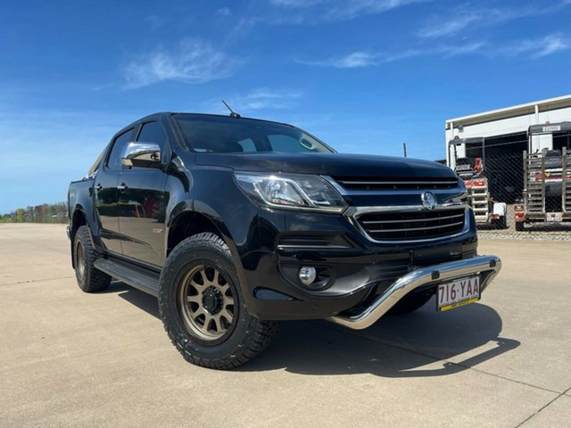 Used Holden Colorado RG MY18 LTZ Pickup Crew Cab Townsville, 2017 Holden Colorado RG MY18 LTZ Pickup Crew Cab Black 6 Speed Sports Automatic Utility