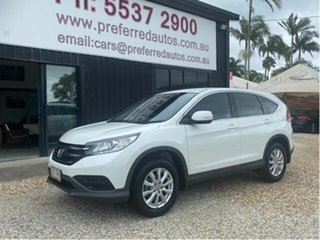 2014 Honda CR-V 30 MY15 VTi (4x2) White 5 Speed Automatic Wagon.