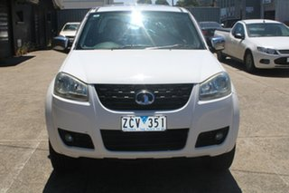 2012 Great Wall V200 K2 (4x4) White 6 Speed Manual Dual Cab Utility.