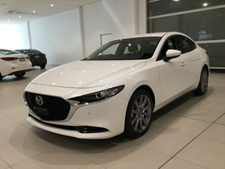 2019 Mazda 3 BP2SLA G25 SKYACTIV-Drive GT Snowflake White 6 Speed Sports Automatic Sedan
