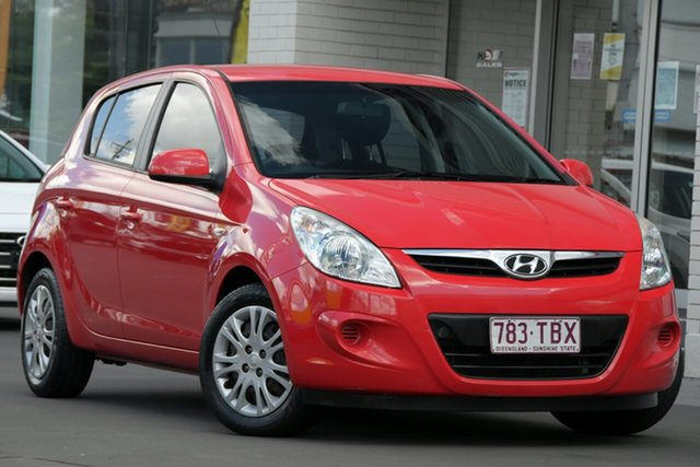 Used Hyundai i20 PB MY12 Active Windsor, 2012 Hyundai i20 PB MY12 Active Red 4 Speed Automatic Hatchback