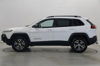2015 Jeep Cherokee KL MY15 Trailhawk White 9 Speed Sports Automatic Wagon.