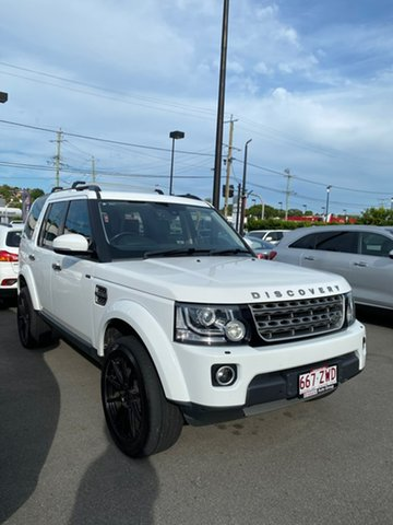 Used Land Rover Discovery Series 4 L319 MY15 TDV6 Mount Gravatt, 2015 Land Rover Discovery Series 4 L319 MY15 TDV6 White 8 Speed Sports Automatic Wagon