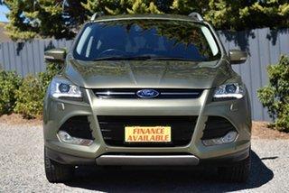 2013 Ford Kuga TF Titanium PwrShift AWD Green 6 Speed Sports Automatic Dual Clutch Wagon.