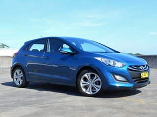 2013 Hyundai i30 GD2 MY14 Trophy Blue 6 Speed Sports Automatic Hatchback.