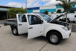 2014 Nissan Navara D40 S7 MY12 RX Polar White 6 speed Manual Cab Chassis