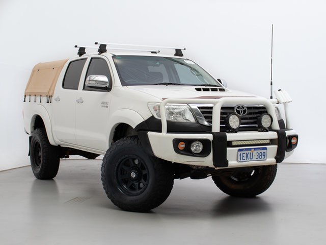 Used Toyota Hilux KUN26R MY14 SR5 (4x4), 2014 Toyota Hilux KUN26R MY14 SR5 (4x4) White 5 Speed Automatic Dual Cab Pick-up