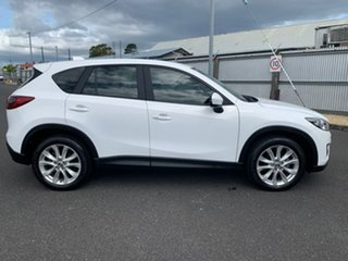 2013 Mazda CX-5 KE1021 Grand Touring SKYACTIV-Drive AWD White 6 Speed Sports Automatic Wagon.