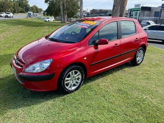 2003 Peugeot 307 T5 MY03 XS Red 4 Speed Sports Automatic Hatchback.