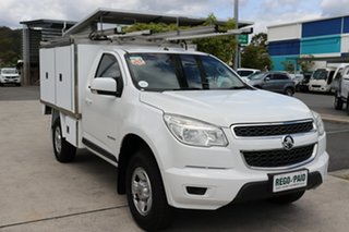 2014 Holden Colorado RG MY14 LX 4x2 White 6 speed Automatic Cab Chassis.