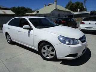 2007 Holden Epica EP MY08 CDX White 5 Speed Automatic Sedan.