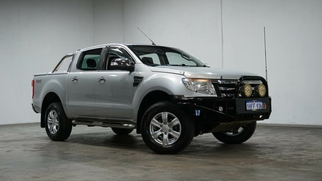 Used Ford Ranger PX XLT Double Cab Welshpool, 2012 Ford Ranger PX XLT Double Cab Silver 6 Speed Sports Automatic Utility