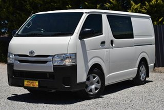 2015 Toyota HiAce TRH201R LWB White 5 Speed Manual Van.