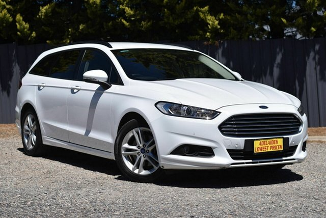 Used Ford Mondeo MD Ambiente Morphett Vale, 2016 Ford Mondeo MD Ambiente White 6 Speed Sports Automatic Dual Clutch Wagon