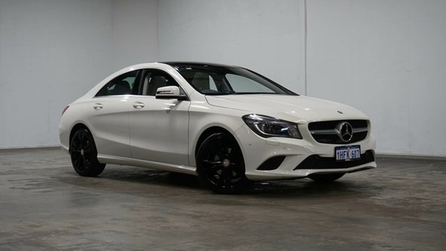 Used Mercedes-Benz CLA-Class C117 CLA200 DCT Welshpool, 2014 Mercedes-Benz CLA-Class C117 CLA200 DCT White 7 Speed Sports Automatic Dual Clutch Coupe