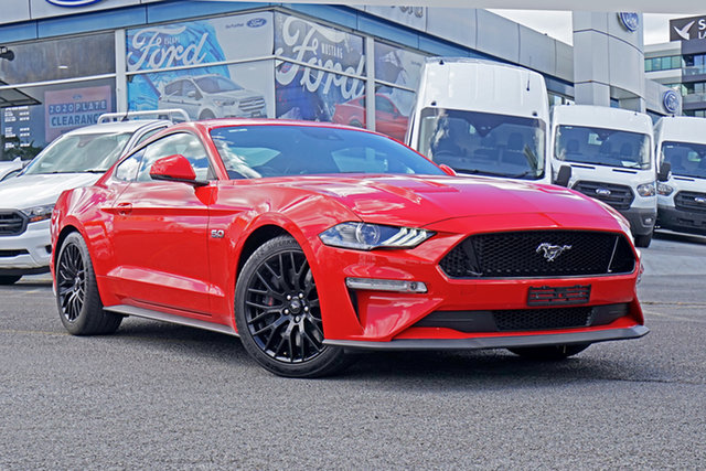 Used Ford Mustang FN 2018MY GT Fastback SelectShift Springwood, 2018 Ford Mustang FN 2018MY GT Fastback SelectShift Red 10 Speed Sports Automatic Fastback