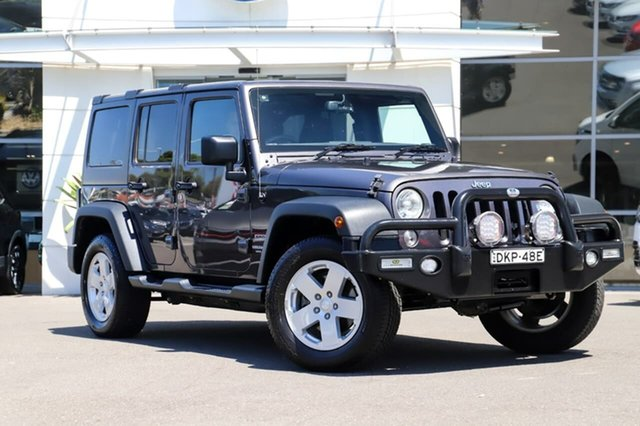 Used Jeep Wrangler JK MY17 Unlimited Sport Sutherland, 2017 Jeep Wrangler JK MY17 Unlimited Sport Grey 6 Speed Manual Softtop