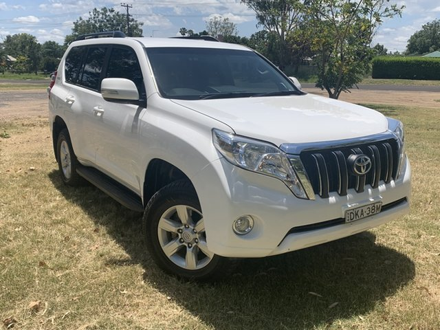 Used Toyota Landcruiser Prado GDJ150R GXL Moree, 2016 Toyota Landcruiser Prado GDJ150R GXL White 6 Speed Manual Wagon