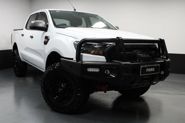 Used Ford Ranger PX MkII XLS Double Cab Cardiff, 2017 Ford Ranger PX MkII XLS Double Cab Cool White 6 Speed Manual Utility