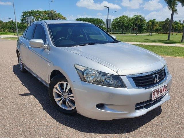 Used Honda Accord 8th Gen VTi Townsville, 2008 Honda Accord 8th Gen VTi Alabaster Silver 5 Speed Sports Automatic Sedan